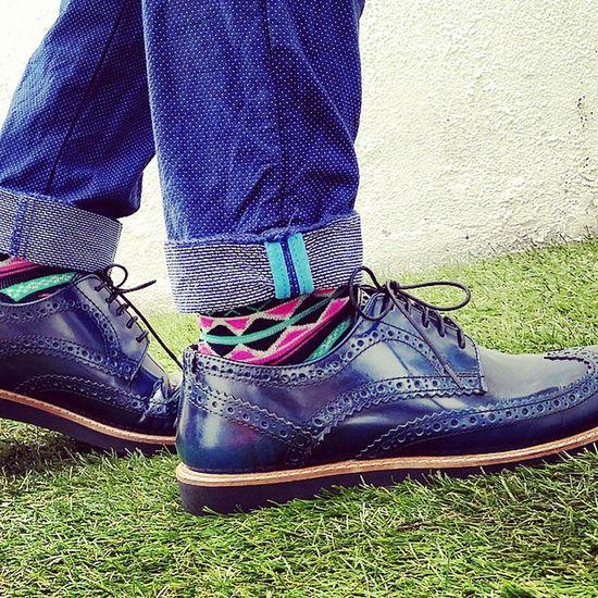 Shinny leather Brogue from @asos TopMan Socks Zaraman  skinny pant