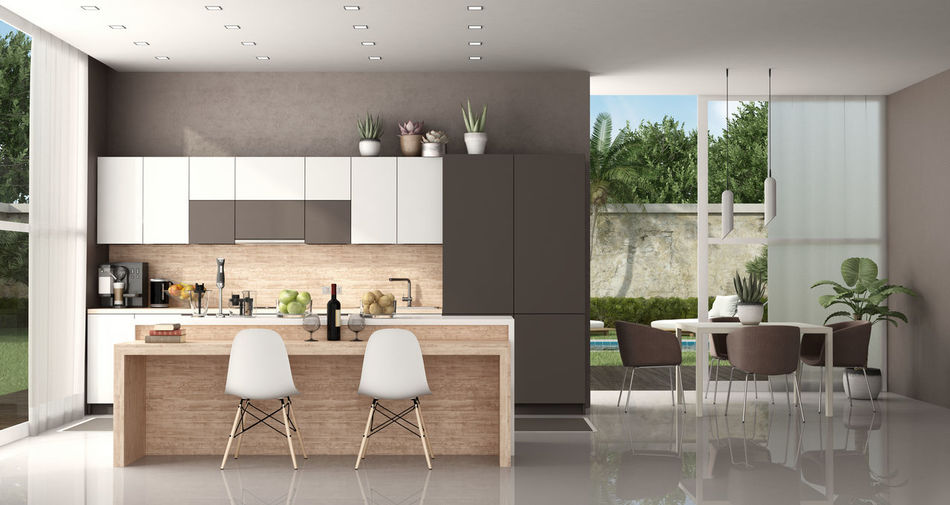 Chair Seat Indoors  Modern Domestic Room Furniture Table Architecture Home Interior Home No People Home Showcase Interior Kitchen Dining Room Dining Table Window Garden Brown Villa