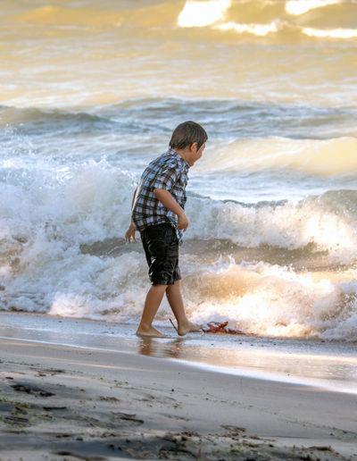 Full length of child on beach