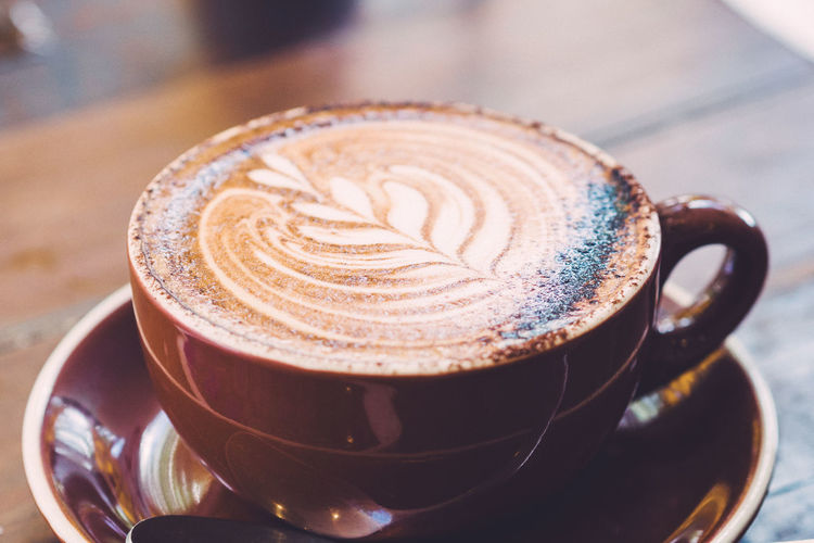 Cappuccino Cappuccino Cappuchino Close-up Coffee - Drink Coffee Cup Day Drink Focus On Foreground Food And Drink Freshness Froth Art Frothy Drink High Angle View Indoors  No People Refreshment Saucer Table