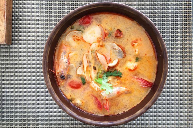 สวัสดีครับ - sàwàddee kráb ~ 9 ~ Tom Yam Gung... my favorite soup.... but please spicy 🌶 Thai spicy 🔥 O-Yeah😊😄😆 Asian Food Food And Drink Flying High Healthy Eating Holiday Jacklycat®2017 On The Road Ready-to-eat Seafood Thailand☀️😊🙏 Tom Yam Gung🌶 Travel Thank You My Friends 😊 Done That. Connected By Travel
