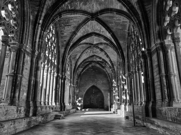 la Seu Gothic Style Gothic Gothic Architecture Black And White Blackandwhite Cloister Place Of Worship Arch Architecture Built Structure Abbey Historic Archway Monastery Cathedral Catholicism