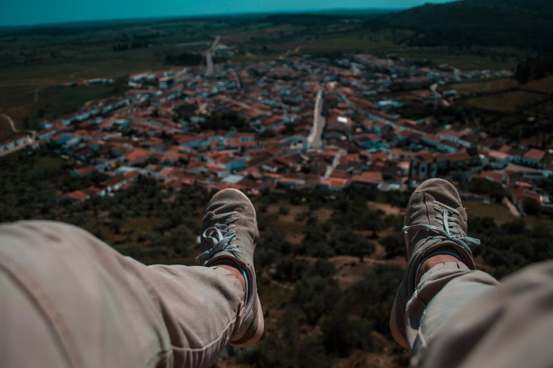 Personal Perspective Human Body Part One Person Low Section Human Leg Shoe People Adults Only Adult Adventure One Man Only Hiking Exploration Young Adult Only Men Outdoors Nature Vacations One Young Man Only Men Street Architecture Sunset City City Life