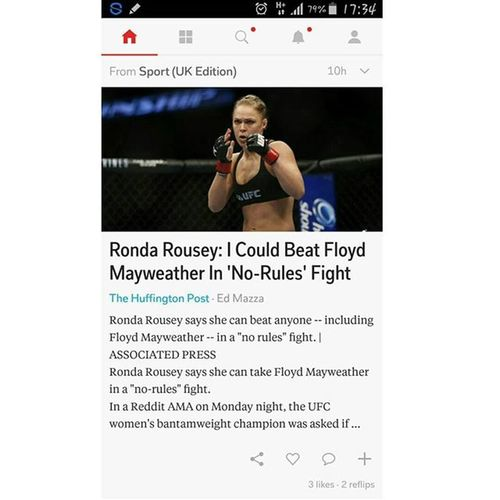 This article.... Made my day.. RondaRousey