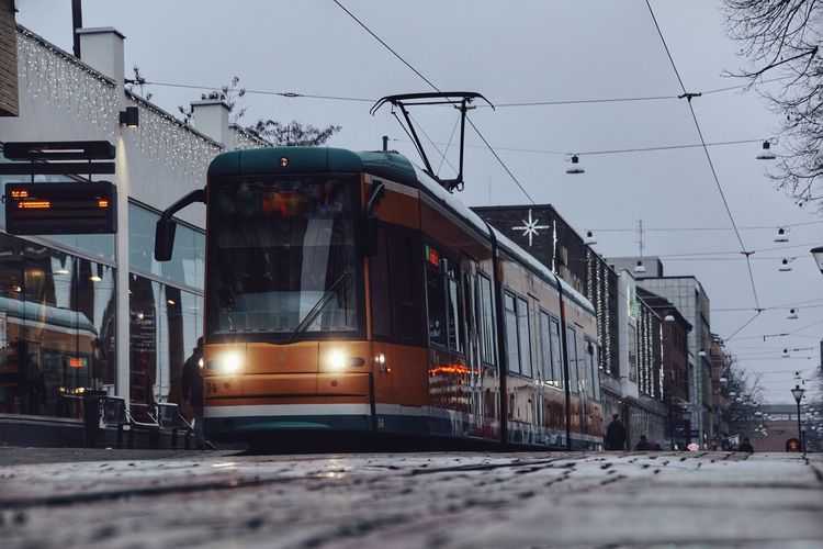 2018 Niklas Storm December Cold Temperature Winter Cable City Train - Vehicle Power Line  Sky Cable Car Public Transportation Tramway Tram Rail Transportation Overhead Cable Car My Best Photo The Art Of Street Photography The Street Photographer - 2019 EyeEm Awards