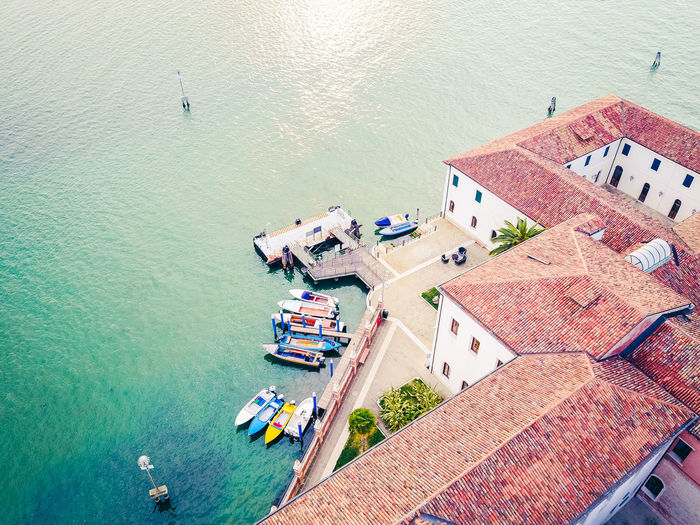 Aerial View Architecture Boat Boats Building Exterior City Colors Day Drone  Dronephotography Drones Droneshot High Angle View Nature Nautical Vessel No People Outdoors Sea Sea Life Transportation Venice Venice, Italy Venicelife Water EyeEmNewHere