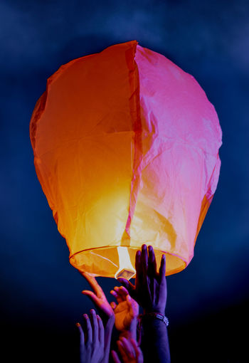 Diwali celebration with paper lantern