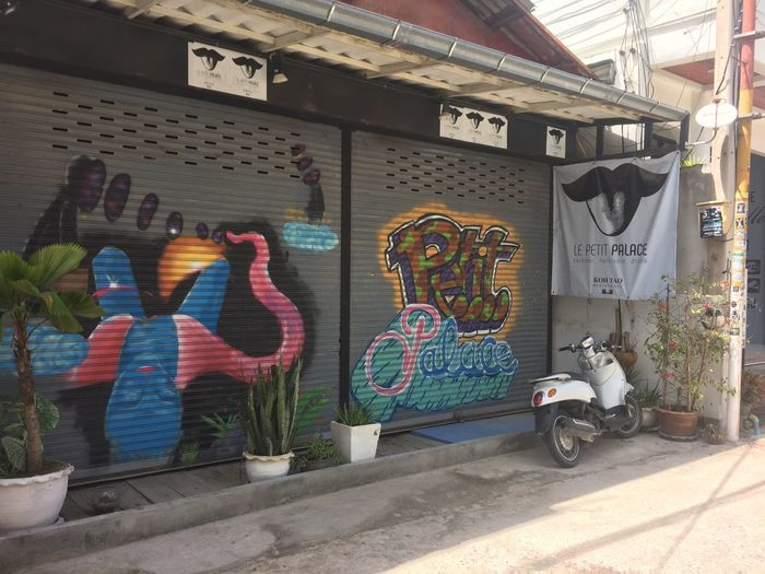 Ocean inspired street art Thailand Urban Art And Craft Graffiti Multi Colored Creativity Built Structure Day Architecture Building Exterior No People Representation Street Art Transportation Wall - Building Feature Outdoors Text Human Representation Sunlight Communication Mural Wall Art And Craft