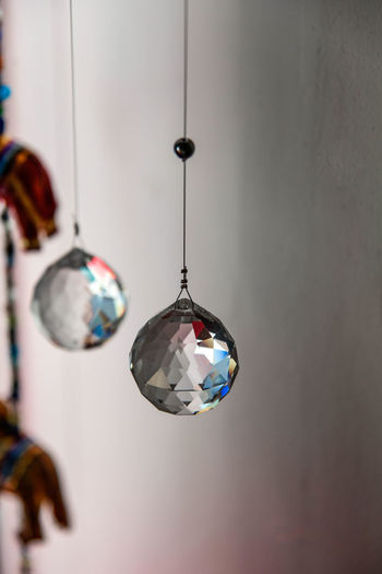 Close-up of multi colored hanging lights