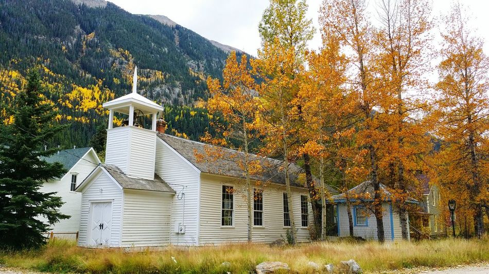 Fall Colors Church Colorado Samsungphotography Colorful Check This Out Trees Getting Inspired Fall Leaves Aspens Mountains