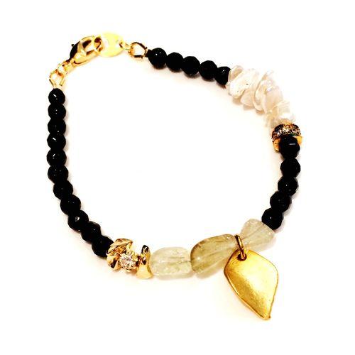 Accessories Gemstones Handmade Jewellery New Bracelet アクセサリー Onix Libyan Desert Glass リビアングラス ブレスレット