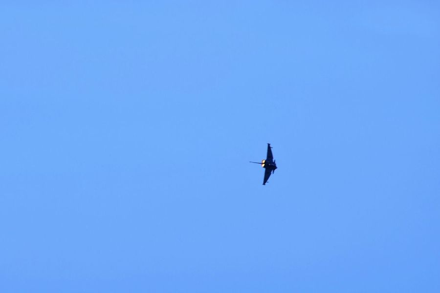 Air Display  Harrier Jet Blue Sky Flames Jet Blackpool