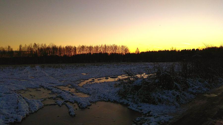Nature Sunset Winter