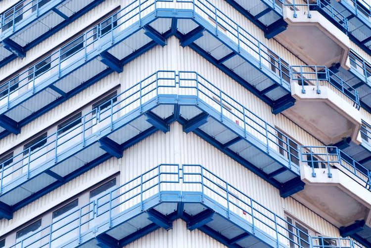 Fabric Pattern Pieces Architecture_collection Architectural Column Architecture Building Building Exterior Minimalism Factory Building Factory Fabric EyeEm Selects Architecture Built Structure Building Exterior Full Frame Building No People Low Angle View City Pattern Residential District Modern Design Blue The Architect - 2018 EyeEm Awards
