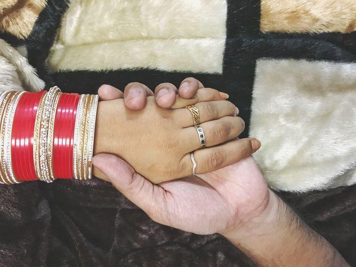 Wedding Celebration Wedding Ceremony Indian Couple Love Indian Wedding Human Hand Real People Celebration Celebration Event Men Close-up Two People Togetherness Bonding Bride People Women A New Beginning