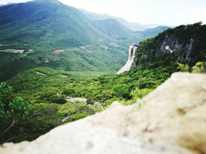 Perspectives On Nature Hierve El Agua Mountain Nature Outdoors No People Beauty In Nature Green Color Day Rural Scene Landscape
