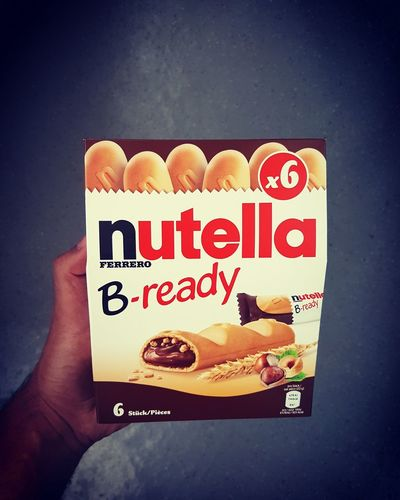 ich halte nicht viel von Nutella, aber die Verpackung schon 😊 Nutella Nutella ♥ B-ready Bread Delicious Lecker Sweet Food Food Nice Nice Day Hungry Eat First Eyeem Photo
