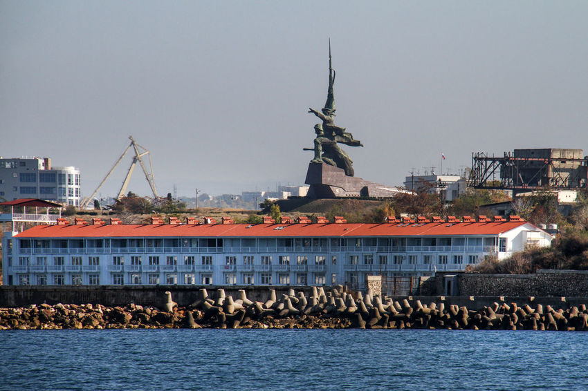 Sevastopol  Architecture Building Exterior Built Structure City Clear Sky Commercial Dock Day Harbor Monument Nautical Vessel No People Outdoors Sea Sky Travel Destinations Water Waterfront