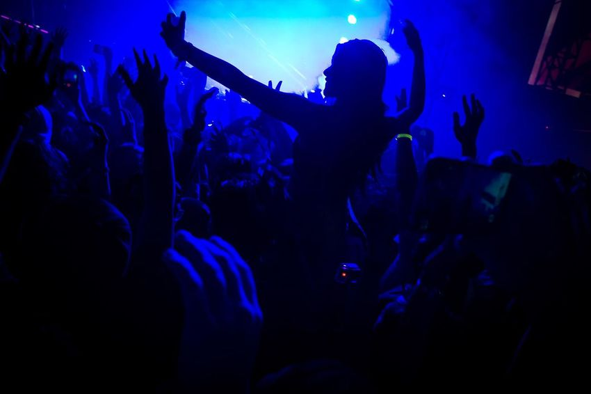 a women with her selfie style Dance Djakarta Warehouse Project By ITag Enjoyment Fan - Enthusiast Music Festival Night Nightlife Party Party - Social Event Rave Party Selfie Silhouette #FREIHEITBERLIN