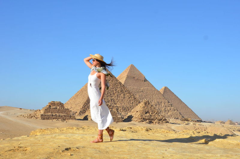Wandering the Ancient Pyramids of Giza Cairo Egypt Africa Arid Climate Cairo Egypt Desert Egypt Egyptian Pyramids Giza Giza Cairo Egypt Landscape Pyramid Pyramids Seven Wonders Seven Wonders Of The Ancient World Travel