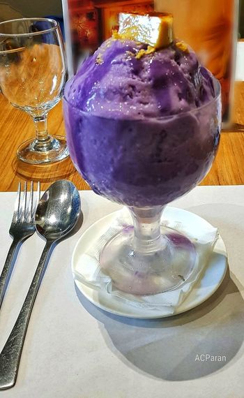 Ube Halo Halo Ice Cream Leche Flan Ube  Halo Halo Ways Of Seeing Ways Of Seeing Shadows Ultra Violet Ultra Violet Background Ultra Violet Trendy Color Of 2018 Violet Violet Color EyeIMNewHere EyeEmNewHere EyeEm Selects Eye4photography  Eyeem Philippines Cebu City Philippines Table Close-up Sweet Food Prepared Food Pastry Served Shop Serving Size The Still Life Photographer - 2018 EyeEm Awards Frozen Sweet Food Dessert Flavored Ice