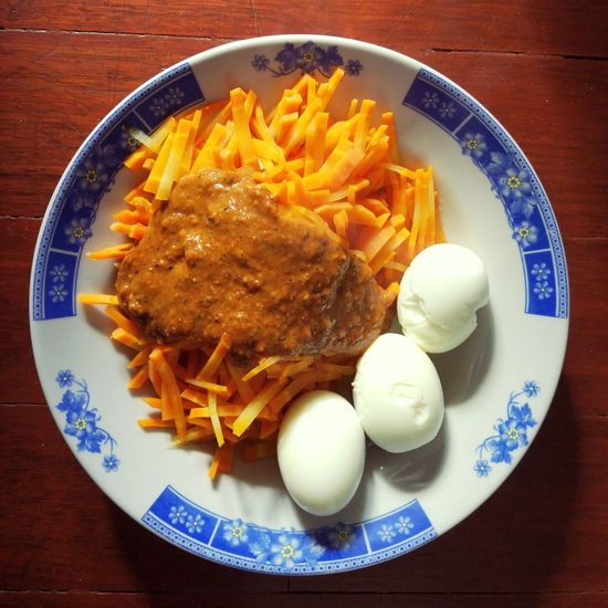 Carrot and egg as my morning diet. Plate Food And Drink Food No People Ready-to-eat Freshness Vegetables High Angle View Diet Diet Food Diet & Fitness Carrot Egg Healthy Healthy Food Healthylife Healthy Lifestyle Health Indonesian Vegetarian Food Vegetable Vegetarian Vegetarian Salad Diet Hard