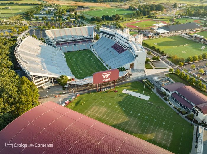 DJI Mavic Pro Drone  HOKIES Virginia Tech Virginia Tech Football  Aerial Photography Aerial View Architecture Building Exterior Built Structure Day Dji High Angle View Large Group Of People Outdoors People Stadium