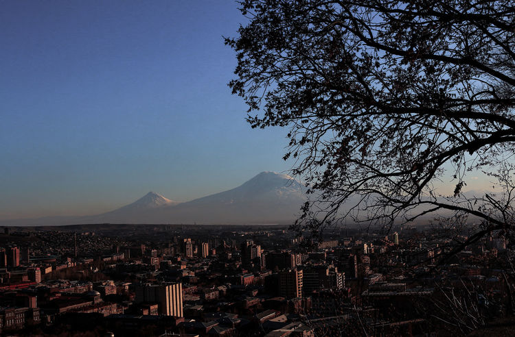 Ararat Mountain🗻🗻 Ararat Mountain Architecture Beauty In Nature Building Exterior City Cityscape Clear Sky Day Mountain Nature No People Outdoors Sky Tree