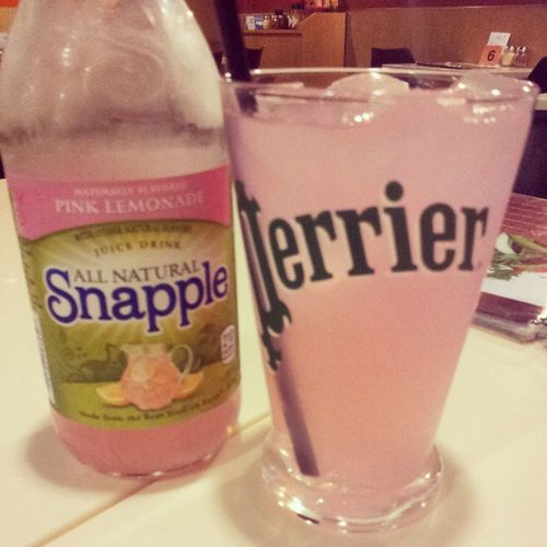 Thirst quencher for today. Snapple Pinklemonade ThePizzaPlace Wednesday