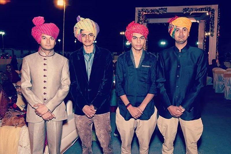 IndianWedding Royal Rajputana Jodhpuri Birjis Safa Colorful TBT  Brothersforlife Brothersisterlove Bros Dudes Mahida Zala Jadeja Jaimataji Rajputs Beamen Menwithclass Dressing Loveandrespect Wariors