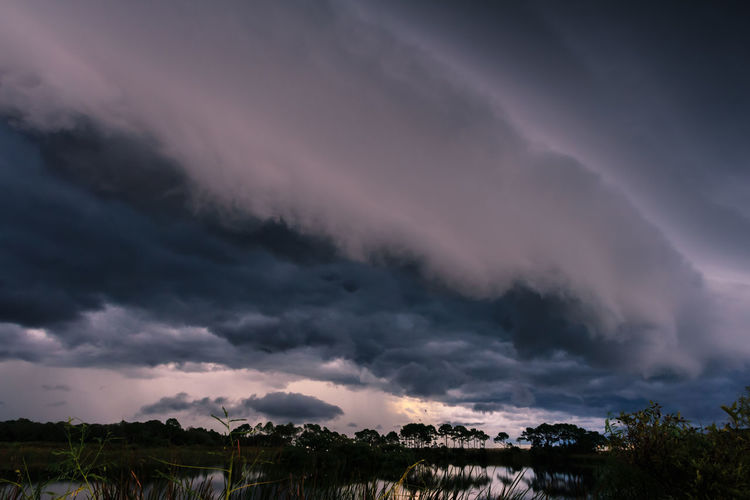 Beauty In Nature Cloud - Sky Dramatic Sky Environment Nature No People Non-urban Scene Ominous Outdoors Overcast Plant Power In Nature Scenics - Nature Sky Storm Storm Cloud Sunset Thunderstorm Tranquil Scene Tranquility Tree
