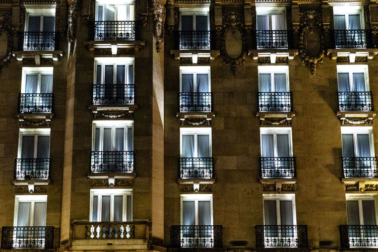 Architecture Paris, France  ParisByNight Architectural Detail Houses And Windows Houses By Night Old Buildings Windows