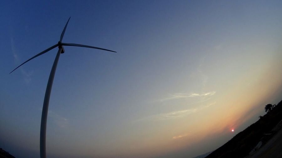 Alternative Energy Silhouette Sunset Sky Fuel And Power Generation Wind Turbine No People Nature Low Angle View Renewable Energy Wind Power Tranquility Windmill Tranquil Scene Beauty In Nature Scenics Outdoors Industrial Windmill Day Dusk Morning