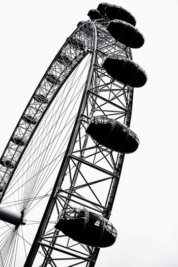 London Eye London Eye, London LONDON❤ LondonEye Photowalktheworld Surreal Good Morning Tourist Attraction  City Communication Silhouette Sky Ferris Wheel Crane - Construction Machinery Big Wheel Fairground Ride Spiral Staircase