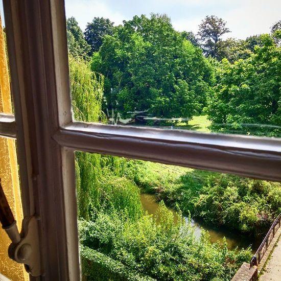 Aussicht aus dem Jagdschlösschender Burg Linn. BurgLinn LinnerBurg Burg Linn Krefeld KrefeldLinn