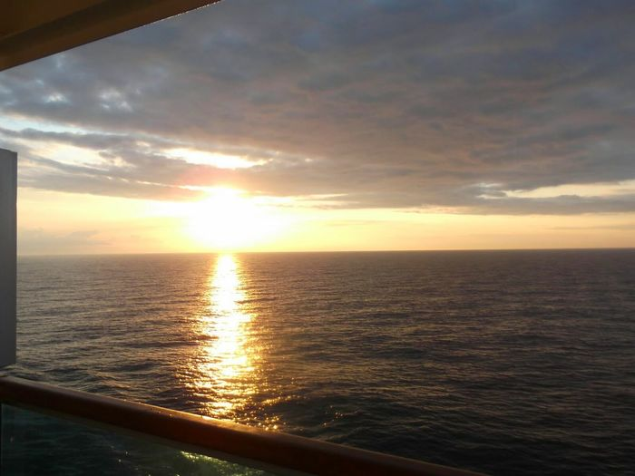 Holiday POV The Best From Holiday POV Love Boat Sea And Clouds Balcony View Sea And Sky Cruise Ship Breaking Dawn Mediterranean  On A Boat