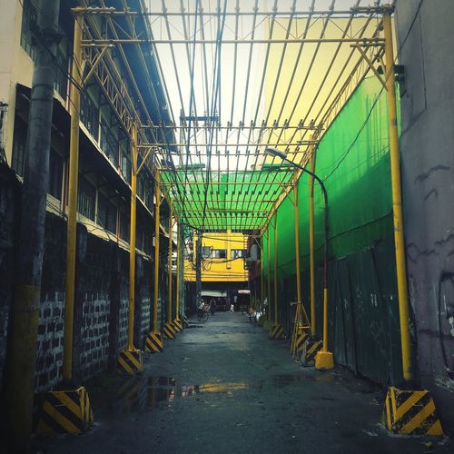 Protection Greenhouse Industry Factory Warehouse Building Alley Tall Residential Structure Exterior Steel Worker Foundry