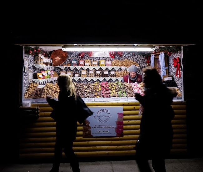 Christmas Market stall. Christmas Market Christmas Fudge Stall London Londonsouthbank Southbank Eye4photography  Winter Colorful Toffee