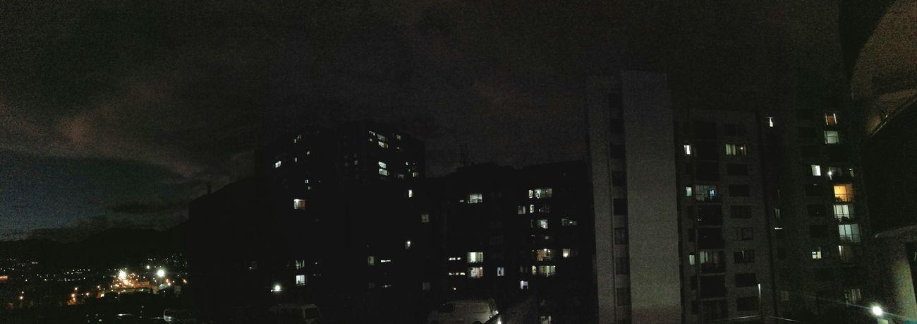 Night Sky Neigborhood Lights Clouds Rainy Days Rain Thursday Thursdaynight Sixthirty Windows Sky No People Indoors  Night Close-up Panoramic Nightfall Get Dark Buildings Buildings & Sky