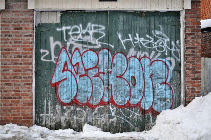 Snow Winter Cold Temperature Street Art Text Graffiti Spray Paint Architecture Building Exterior Built Structure Written