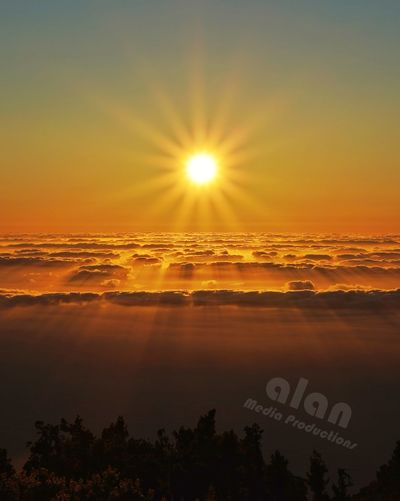 Yeah, this landscape is real, it's not fake, it's not over is what it is, a sunset from El Roque de los Muchachos, the highest spot on La Palma. I hope you like it as much as I do 😋 Clouds Nubes Nature Canarias Sunsetphotography Islascanarias Sunsetsniper Laislabonita Lapalmalovers Roquedelosmuchachos LaPalma Puestadesol Lapalmaislabonita Rinconesdecanarias Clouds And Sky Sunset Sun Sky Landscape
