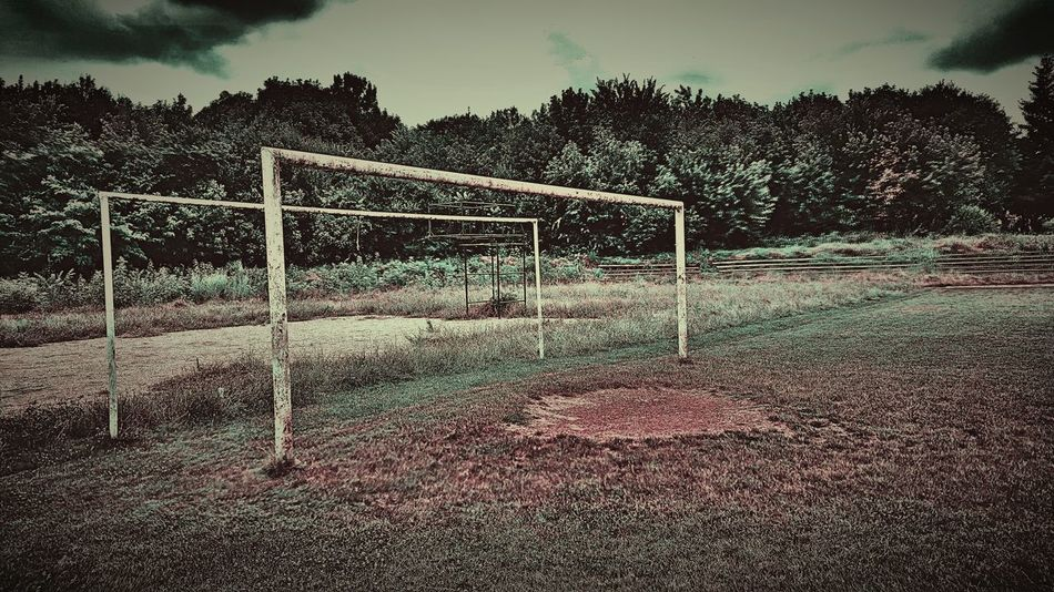 Minimal Standing Stadium Stadion Old Nature Time Years Tree Ball Eurotrip Eurocup  Footballer Sky Clouds New The Color Of Sport September 14 2016