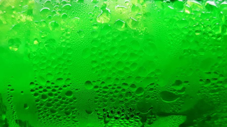 Full frame shot of bubbles in glass