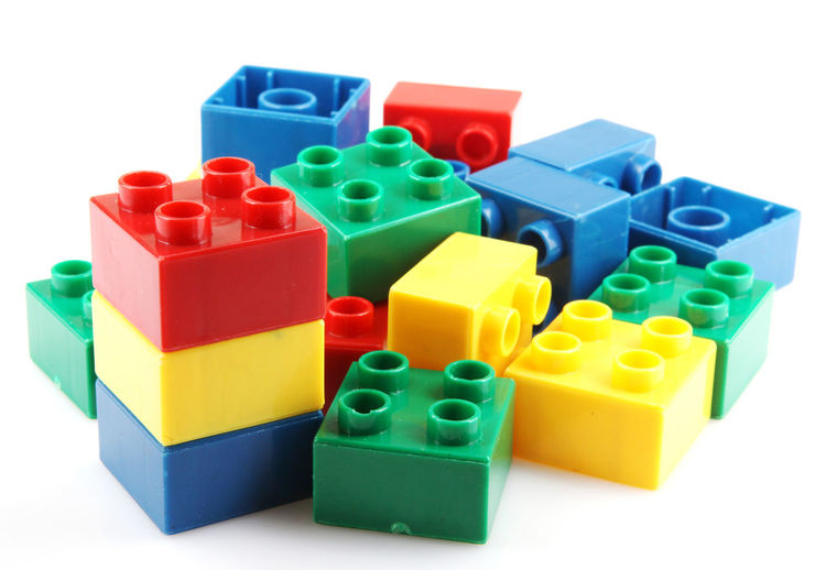 Close-up of plastic toys