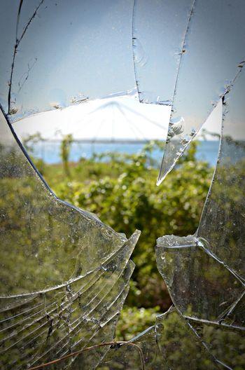 Abandoned & Derelict Broken Glass Broken Window Focus On Foreground