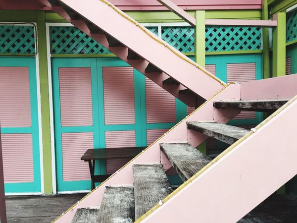 Built Structure Architecture Day Building Exterior No People Outdoors Steps And Staircases Close-up Pink House Stairs Pulau Redang Malaysia