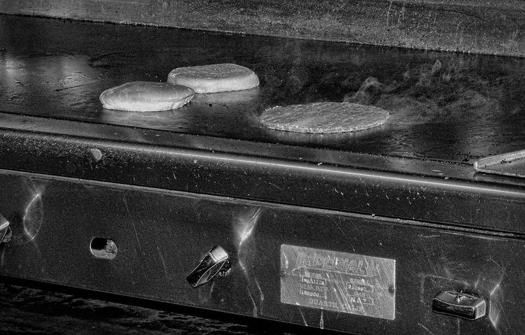 Burger time! Grill Burger Blackandwhite Black And White Steam Hamburger Eye4photography  Cheesebuger