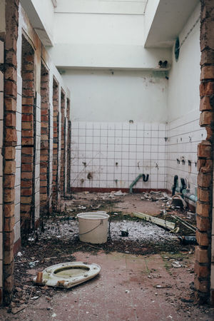 Abandoned Places Nicht-Ort Ostsee Prora Rügen Abandoned Abandoned Buildings Architecture Bad Condition Damaged Day Desolate Destruction Dirty Domestic Room Indoors  Kaputt Messy No People Old Ruin Rotting Rubble Run-down Toilet Bowl Window