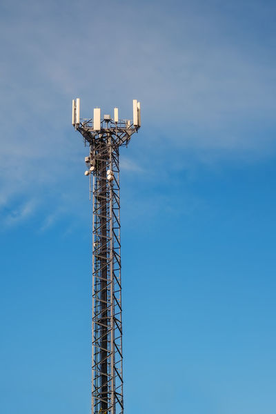 Cellphone telecomunication tower Cellphone Telecomunication WIFI Zone Architecture Blue Built Structure Communication Comunication Tower Connection Day Electricity  Low Angle View Metal Nature No People Outdoors Sky Tall - High Technology Telecommunications Equipment Wifi Wireless Technology