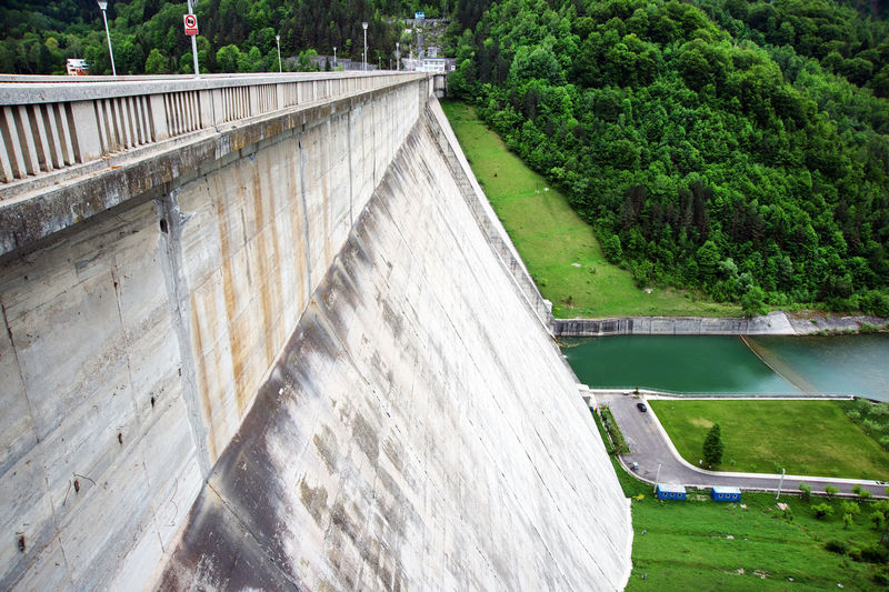 Nikon Canal Concrete Concrete Wall Dam Dam Lake Day Electricity  Flowing Water Footbridge Outdoors Park - Man Made Space Tranquil Scene Tranquility Water